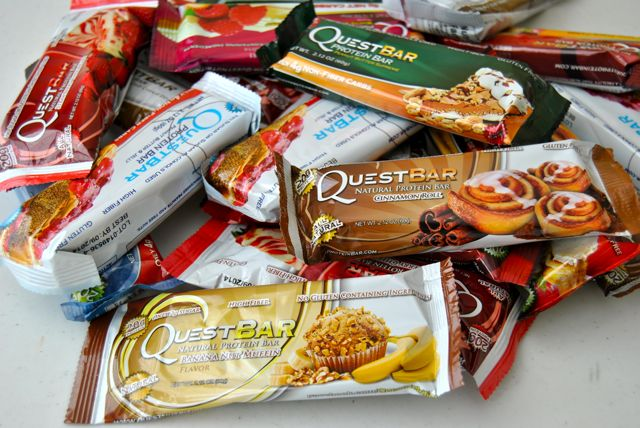 Where can you find quest bars