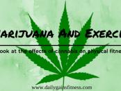 marijuana and exercise